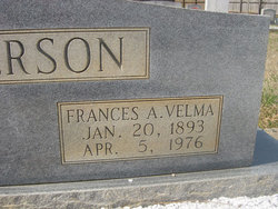 Frances A. Velma <I>Broadwell</I> Alberson