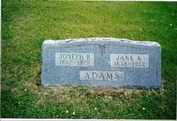 Jane Amelia <I>Kelley</I> Adams