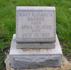 Mary Elizabeth <I>Harvey</I> Barker