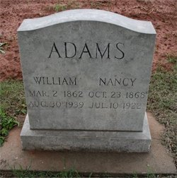 Nancy Ellen <I>Willey</I> Adams