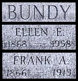"Ellen Elizabeth ""Nellie"" <I>Lazenby</I> Bundy"
