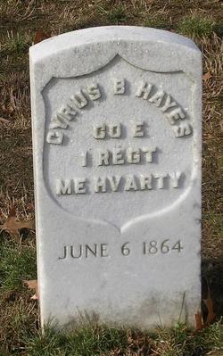 Pvt Cyrus B. Hayes