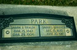 Sarah Jane <I>Taylor</I> Park