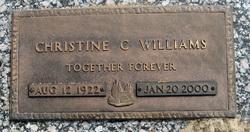 Christine C <I>Coker</I> Williams