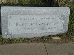 Thelma Faye <I>Bivins</I> Badgett