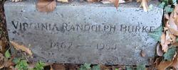 Virginia <I>Randolph</I> Burke