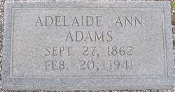 Adelaide Ann <I>Hutchinson</I> Adams