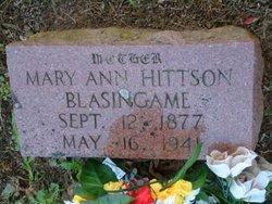 """Mary Ann """"Dolly"""" <I>Hittson</I> Blasingame"""