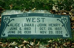 Alice <I>Lomax</I> West