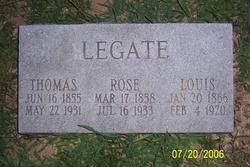 """Mary """"Rose"""" <I>Arbogast</I> Legate"""