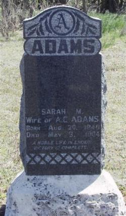 Sarah M. Adams