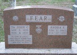 Rhoda Florence <I>Butler</I> Fear
