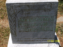 Sarah Callie <I>Gentry</I> Beard
