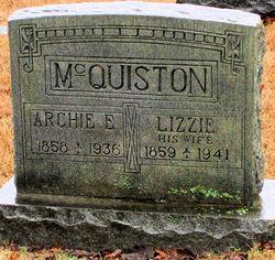 """Mary Elizabeth """"Lizzie"""" <I>Strong</I> McQuiston"""