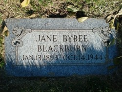 Jane <I>Bybee</I> Blackburn