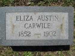 "Sarah Ann  Elizabeth ""Eliza"" <I>Austin</I> Carwile"