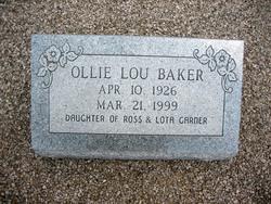 Ollie Lou <I>Garner</I> Baker