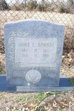 Annie E <I>Slaughter</I> Bownds