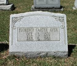 Florence Emma <I>Carter</I> Aven