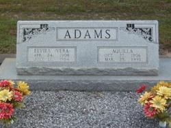 """Elvira """"Vera"""" <I>Vogel</I> Adams"""