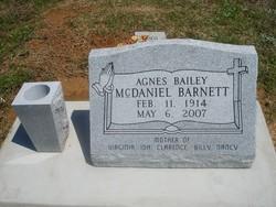 Agnes   Anna Bailey <I>McDaniel</I> Barnett