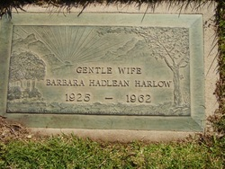 Barbara Hadlean Harlow