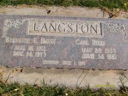 Bernice Edith <I>Davis</I> Langston