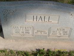 Ann <I>Pickett</I> Hall