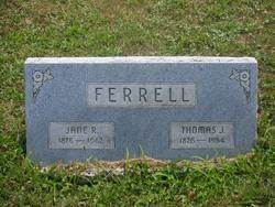 Jane Rebecca <I>Adkins</I> Ferrell