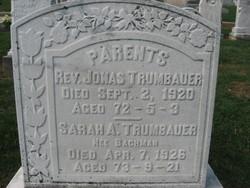 Sarah Ann <I>Bachman</I> Trumbauer