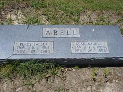 """Mary Eugenia """"Gean"""" <I>Maddux</I> Abell"""