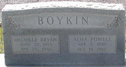 Alma <I>Powell</I> Boykin