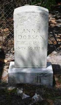 Anna <I>Dorman</I> Blitch Dobson