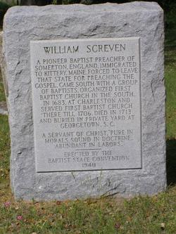 Rev William Augustine Screven