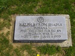 PFC Ralph Byron Shadle