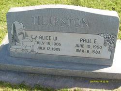 Alice <I>Woodbury</I> Thurston