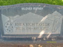 Rhea <I>Rich</I> Taylor