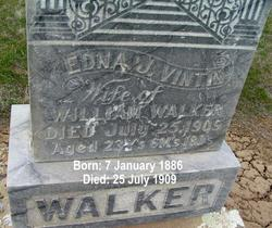 Edna J <I>Vintin</I> Walker
