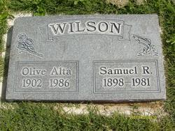 "Olive Alta ""Allie"" <I>Elder</I> Wilson"
