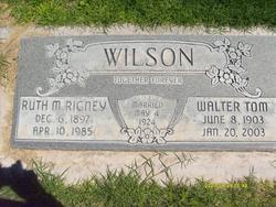 Ruth <I>Rigney</I> Wilson