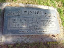 "Florence Annie ""'Teddy'"" <I>Dutton</I> Winder"