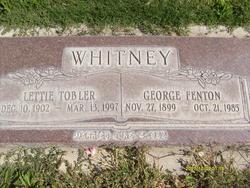 Lettie Tobler Whitney