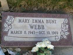 Mary Emma <I>Hunt</I> Webb