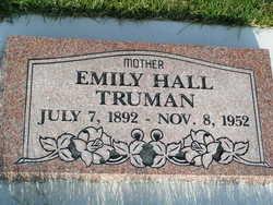 Emily <I>Hall</I> Truman
