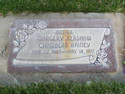 Margery <I>Kershaw</I> Chambers Rainey
