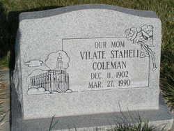 Vilate Staheli Coleman
