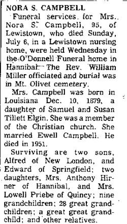 Nora Susan <I>Elgin</I> Campbell