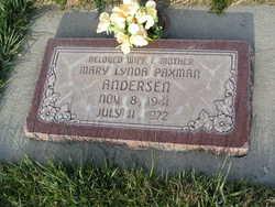 Mary Linda <I>Paxman</I> Andersen