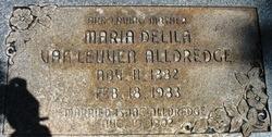 "Maria Delila ""Delila"" <I>VanLeuven</I> Alldredge"