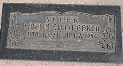 Fidella Ellen <I>Maudsley</I> Baker